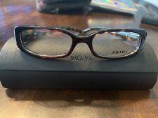 PRADA Frames Tortoise RX Eyeglasses. Original Case 49-16-135