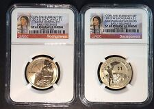 2014 & 2015 Enhanced Sacagawea from the Coin & Currency sets SP 69