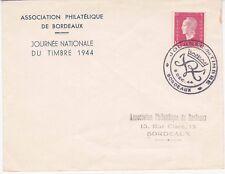 Enveloppe 9-12-1944 - Affranchissement Journée du timbre Association de Bordeaux