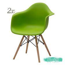 Poltroncina Verde Moderna Wooden Gambe in Legno - 2 Pezzi SPEDIZIONE GRATUITA