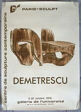 AFFICHE EXPO Galerie de l'Université DEMETRESCU Sculptures 1978