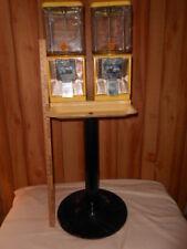2 Vintage Curtis 25¢ Gumball Candy Peanut Vending Machine Northwestern Glass