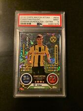 2016 Christian Pulisic ROOKIE RC - German Issue Topps Match Attax - PSA 9 MINT