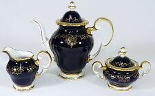 WEIMAR - Kaffeeservice KAFFEEKERN Kaffeekanne - KATHARINA - Kobaltblau Gold