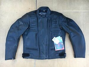 """Ladies Leather Motorcycle Jacket by WEISE Size UK 16 to 18  40"""" to 42"""" chest H8"""