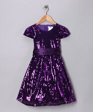 NWT Joe Ella Fashions 3 3T Purple Aaliyah Sequin Dress Sparkle Formal Party Gown