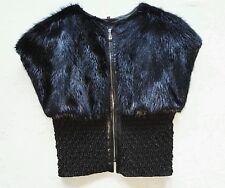 echte Nerzweste schwarz real mink vest black fur NEW