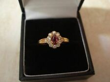 Wedding Natural Ruby Oval Fine Rings