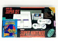 Super Nintendo Super Set CiB [SNES] USA Mario World & Mario All Stars ► RARE ◄