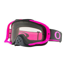 OAKLEY CROWBAR GOGGLES MX MOTOCROSS ENDURO MTB GUNMETAL PINK WITH CLEAR LENS