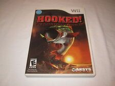 Hooked Real Motion Fishing (Nintendo Wii) Complete Excellent!