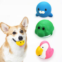 Pet Puppy Latex Chew Squeaker Squeaky Sound Cow/Elephant/Dog Ball Playing Toy AU