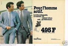 Publicité advertising 1980 (2 pages) Pret à porter vetement costume Trevira