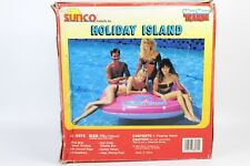 Vintage Holiday Island Inflatable Huge RIDE ON RARE VINYL Float 72'' 183CM SUNCO