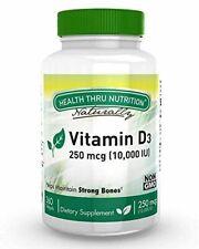 Vitamin D3 10,000 IU Non GMO 360 Mini Softgels (10000 iu cholecalciferol) Soy Fr