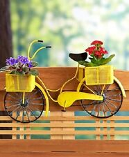 Bicycle Planter Railing Deck Rail Patio Porch Metal Flower Pot Box Vintage Fence