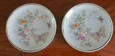 2 Vintage 1979 Avon Butterfly Fine Porcelain Trinket Soap Dish w/22K Gold Trim