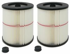 2 General Purpose Cartridge Filters Compatible with Craftsman Red Stripe Vacuums