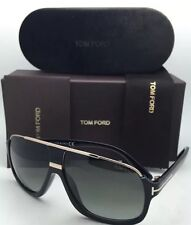 TOM FORD Sunglasses ELLIOT TF 335 01P Black Gold Frame Grey Fade NEW ITALY SALE