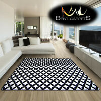 AMAZING THICK MODERN RUGS SKETCH WHITE BLACK F757 LARGE SIZE BEST-CARPETS