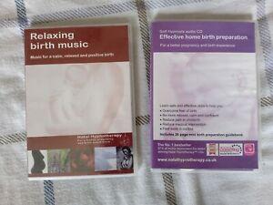 Natal hypnotherapy Hypnobirthing CD (X2) Home Birth Preparation + music