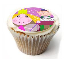 Cupcake Toppers Ben y Holly Personalizado Glaseado Hoja de Papel de Arroz 836