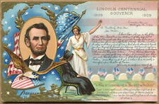 LINCOLN 'A MAN OF SORROW, ACQUAINTED WITH GRIEF' POSTCARD - E. Nash 1908, Unused