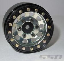 """SSD RC Single 1.55"""" Steel D Hole Beadlock Wheel (Silver) (1) SSD00099-SPARE"""