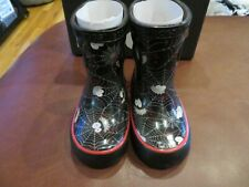NWT Toddler Boys Black Multi Bogs Skipper Spiders Boo Rain Boots, 4