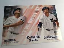 2019 Topps Historic Through Lines 5x7 Roger Maris Giancarlo Stanton HTL20 02/49