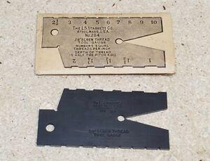 Starrett No. 284 screw thread gauge