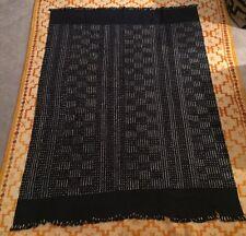 "Vintage Dogon, Mali Indigo Cloth Dyed Fabric/Hand Woven Cotton 43x59 1/2"""