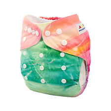 ALVA Baby Girl Washable Reusable Washable Pocket Diaper  +1Insert Fit 6-33lbs