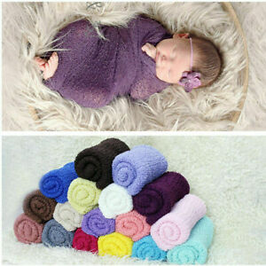 Newborn Baby Cheesecloth Swaddle Cocoon Knit Crochet Wrap Photo Photography Prop
