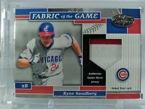 Ryne Sandberg 2002 Leaf Certified 2clr Game Used Patch #18/81 Cubs MLB HOF