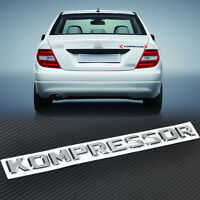3D Chrome KOMPRESSOR Badge Emblem Sticker fit Mercedes-Benz Letter Sticker Decal