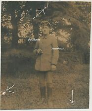 Foto Soldat/Unteroffiz. mit EK2-Zigarette 1.WK (i413)