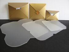 3 Plastic Mini Envelope Templates to make 68x68mm 58x57mm & 48x34mm Envs AM467