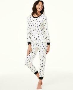 Family PJs Tree-Print Kids Matching Christmas Pajama Set - 8, Medium #5681