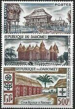 """1960 """"Dahomey"""" Stilt Houses, Air-Mail Issues, complete set VF/MNH! CAT 25$ LOOK!"""