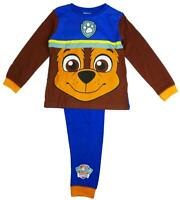 Boys Pyjamas Paw Patrol CHASE Face Pjs Puppy Costume 18 Months to 6 Years