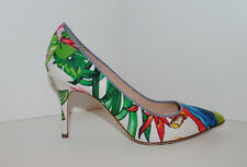 J.Crew Elsie Pumps Ratti Into the Wild Print Green,Blue,Red,Ivory #F1193 7 $298