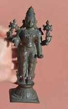 18C/19C Hindu India Indian Bronze Buddha Deity God Vishnu Figure Figurine