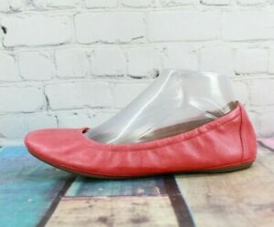 Clark's Artisan Womens Pink Leather Ballet Flats Size 8