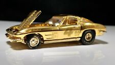 Racing Champions 1968 Chevy Corvette Gold 24K Plated Adult Collector Real Riders