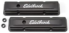 EDELBROCK Signature Series Black Valve Covers Chevrolet 262-400 SBC - ED4443