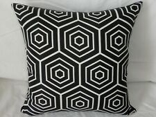 Outdoor Black & White Modern Geometric Cushion Covers 45cm  Au Handmade