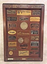 Collectors Dream A Victrola Top w/ Tags from Various Makers of Phonographs