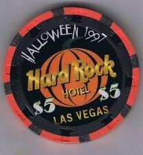 Hard Rock Hotel $5.00 Halloween Zombie Jamboree Casino Chip 1997 Las Vegas Nv