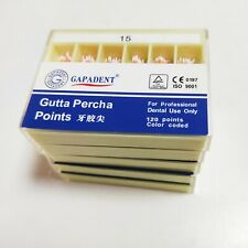 5boxes Dental 15 Gutta Percha Absorbent Paper Points Root Canal Endo 200pcsbox
